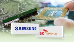 삼성전자·SK하이닉스 3분기 D램 매출 하락…공급과잉 영향