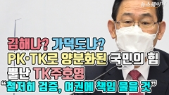 """김해냐? 가덕도냐? PK·TK로 양분화된 국민의 힘, 뿔난 TK주호영 """"철저히 검증, 여권에 책임 물을 것"""""""