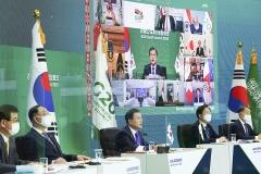 문 대통령, G20정상들에 코로나19 극복 국가 간 협력 필요성 강조