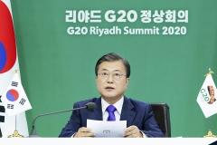 문 대통령 제안 '국가 간 인력이동', G20 38개항 선언문에 채택