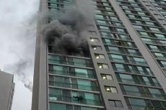 부산 금정구 한신아파트 화재…1명 사망·12명 연기 흡입