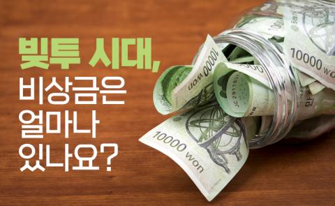 빚투 시대, 비상금은 얼마나 있나요?