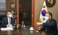 박상철 호남대 총장, 김덕모 광주그린카진흥원장과 환담