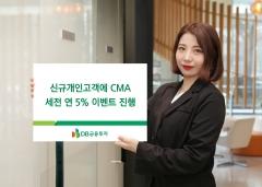 DB금융투자, 신규고객에 연 5% 투자형 CMA 제공