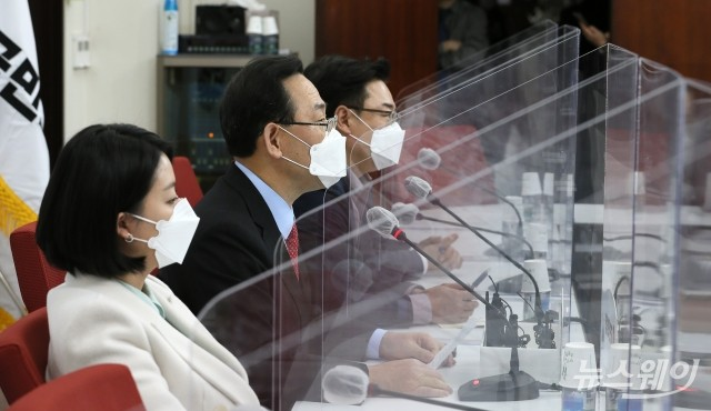 [NW포토]법원의 검찰총장 직무배제 효력정지 결정 입장 밝히는 주호영
