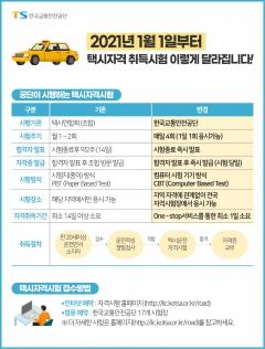 """교통안전공단 """"택시운전 자격취득, 하루 만에 가능!"""""""