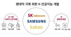SKT-삼성전자-카카오, AI 초협력…팬데믹 조기극복 '맞손'