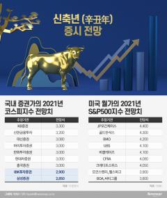 """신축년도 증시의 해···""""코스피 3300, S&P500 4000 간다"""""""