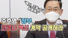 """주호영 """"정부, 코로나 백신 계약 공개하라"""""""