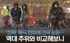 '진짜' 북극 한파에 전국 꽁꽁…역대 추위와 비교해보니