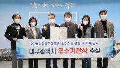 대구시, 농림부 '안심식당 운영평가' 장관상 수상