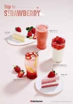 달콤, 봄 시즌 한정 딸기 메뉴 3종 출시