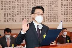 """김진욱 공수처장 후보자 """"정치적 중립성 지키겠다"""""""