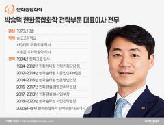 '김동관 측근' 박승덕 한화종합화학 전략부문 대표