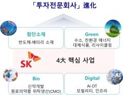 SK, 투자포트폴리오 재편…'첨단소재·그린·바이오·디지털'