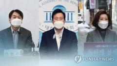 휴일 현장행보…나경원 '청년' 오세훈 '노인' 안철수 '주거'