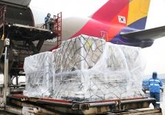 아시아나항공, 미국산 계란 20여톤 긴급 수송