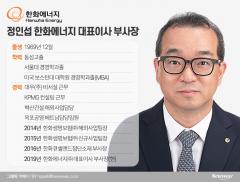 '글로벌 전략가' 정인섭 한화에너지 대표이사 부사장