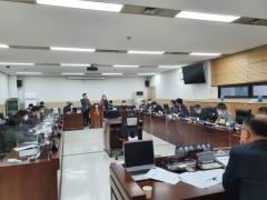 경기도의회 기재위, 2021년 평화협력국 주요 현안 보고회 가져