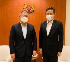 정의선 회장, 싱가포르 총리와 '미래 모빌리티' 논의