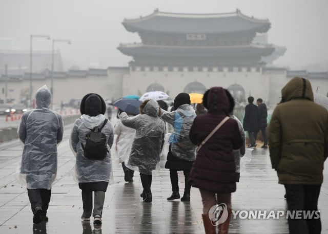 전국 대체로 흐리고 눈·비