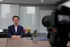 박춘원 흥국생명 대표 내정자, 영상으로 첫 공식 행보