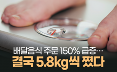 [카드뉴스]배달음식 주문 150% 급증···결국 5.8kg씩 쪘다