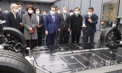 정세균 총리, 현대자동차 남양기술연구소 방문 '국정현안점검조정회의'