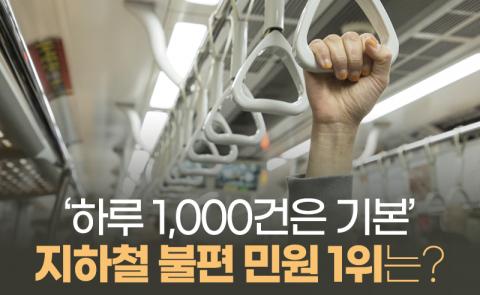 '하루 1,000건은 기본' 지하철 불편 민원 1위는?