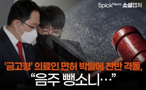"""'금고형' 의료인 면허 박탈에 찬반 격돌, """"음주 뺑소니···"""""""