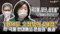 """""""가덕도, 文정부의 4대강"""" 野 극렬 반대에도 본회의 '통과'"""