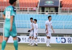 김천상무, 2021시즌 첫 경기서 안산에 1-1 무승부