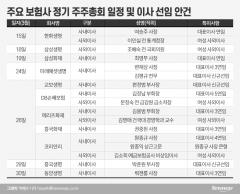 보험사 정기주총 스타트···대표이사 연임·女사외이사 영입