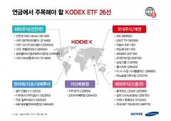 삼성자산운용, 연금투자 맞춤 'KODEX ETF' 26종 추천