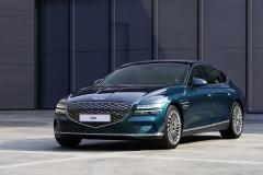 [현대차·기아 '中' 전략 강화]전기차 '제네시스 G80' 세계 최초 공개···427km 주행
