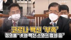 """[뉴스웨이TV]코로나 백신 '부족'···정의용 """"美와 백신 스와프 협의 중"""""""