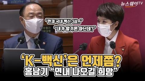 """'K-백신'은 언제쯤?···홍남기 """"연내 나오길 희망"""""""