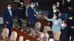 국민의힘, 김상희 부의장 발언 반발해 본회의장 퇴장