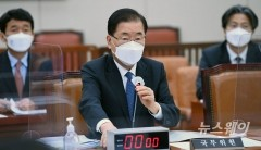 [NW포토]국회 외교통일위원회 전체회의 참석한 정의용 장관