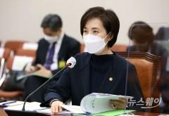 [NW포토]교육위 전체회의 참석한 유은혜 장관