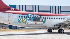 신한카드, 캐릭터 '판귄' 항공기 래핑 광고