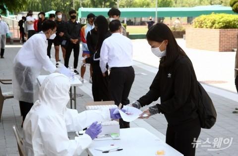 교육시설 코로나19 이동식 PCR 검사소 시범운영