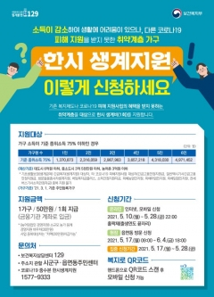 서울시, 코로나로 생계위기가구에 현금 50만원 지원