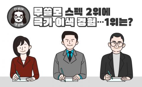 """'무쓸모' 스펙 2위에 """"극기·이색 경험""""···1위는?"""