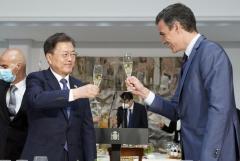 """한·스페인 정상회담···靑 """"양자 관계 발전 방안 논의""""(종합)"""