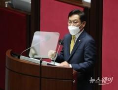 [NW포토]비교섭단체 대표연설 하는 배진교  정의당 원내대표