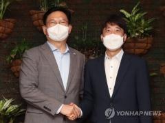 송영길-이준석, 5차 재난지원금 전 국민 지급에 합의