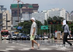 [내일날씨]전국 맑지만 한낮 35도 안팎 무더위