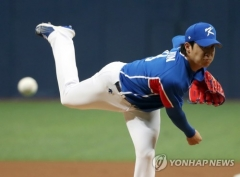 올림픽 메달사냥 나선 야구대표팀, 상무야구단에 9대0 완승