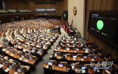 [NW포토]국회 'LH 사태 재발 방지' 농지법 일부개정법률안 가결···찬성 221표·기권 15표